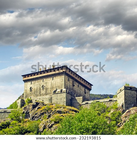 Verres Castle, Aosta Valley, Northern Italy