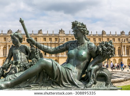 Versailles, a monument in the gardens of Paris - stock photo