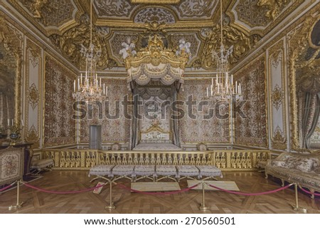 Bedchamber stock images royalty free images vectors for Chambre de la reine versailles