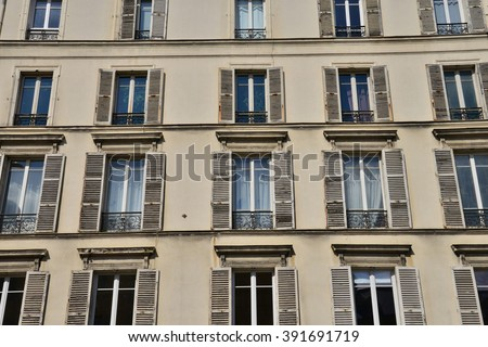 Versailles, France - august 16 2015 facade of old building in the city center