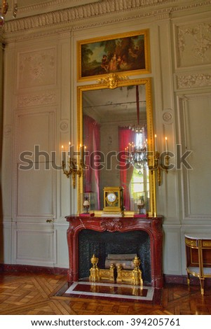 Versailles, France - august 19 2015 : Petit Trianon in the Marie Antoinette estate in the parc of Versailles Palace