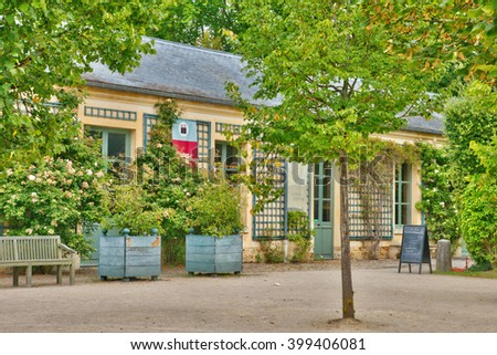 Versailles, France - august 19 2015 : store in thecastle park