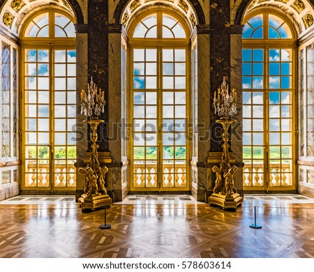 Versailles France May 25 2016 Windows Stock Photo Royalty