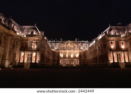 Versailles palace by night.