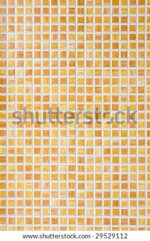 Vertical back ground of small orange tiles - stock photo