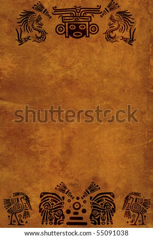 Vertical background with American Indian national patterns