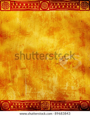 Vertical background with American Indian traditional patterns - stock photo