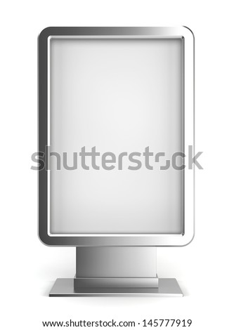 Vertical billboard. 3d illustration on white background  - stock photo