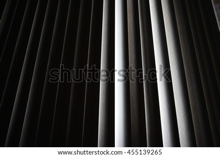 vertical blinds , dark - stock photo