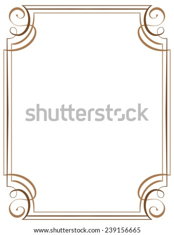 vertical frame. Element for graphic design - stock photo