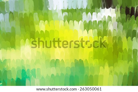 Vertical green tones brush strokes background. Raster version - stock photo