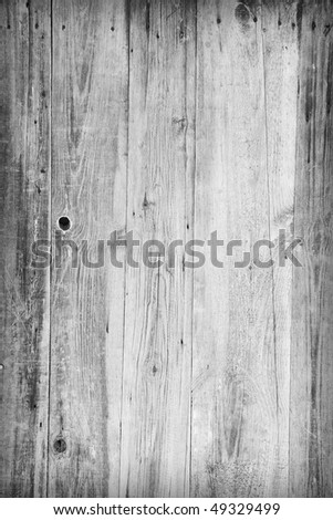 Vertical grunge gray wooden boards background - stock photo