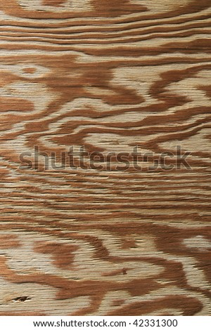 vertical image of weathered plywood for background use - stock photo