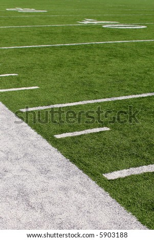 vertical image of 40-yard line - stock photo