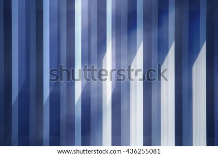 Vertical jalousie / blinds with reflections of another window. Abstract architectural photograph. - stock photo