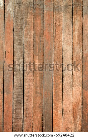 vertical old wood texture with natural patterns - stock photo