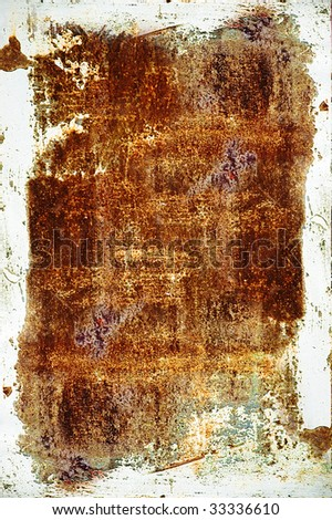vertical oriented texture of the old rust metal wall - stock photo