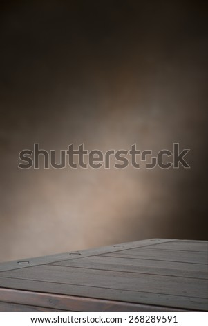 Vertical photo of table surface and soft focus background - stock photo