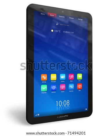 Vertical tablet PC - stock photo