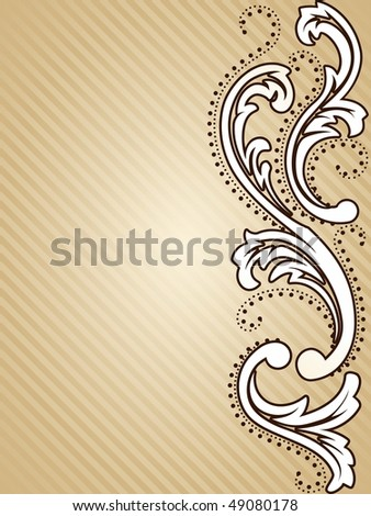 Vertical vintage sepia background (JPG); vector version also available - stock photo