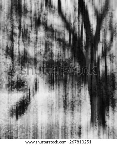 Vertical vivid vibrant black and white crystallized tree dramatic abstraction background backdrop - stock photo