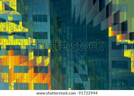 Very Abstract view of a Building - stock photo