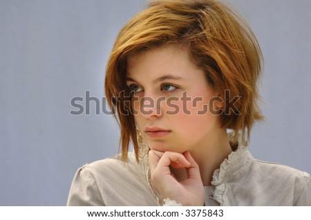Very attractive Marketing Girl / Businesswoman - stock photo