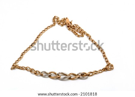 Very beautiful antique gold necklace with diamonds