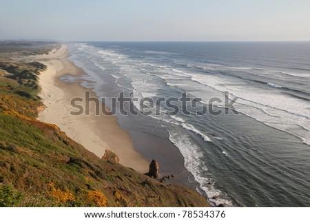 Very Beautiful Beach in California - stock photo