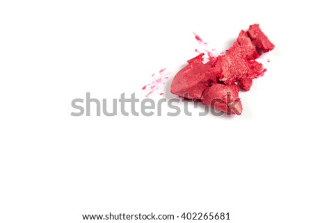Very beautiful  cosmetics sample  on a white background.