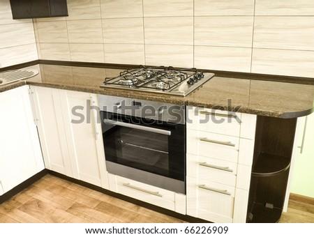 very beautiful to interior kitchen furniture - stock photo