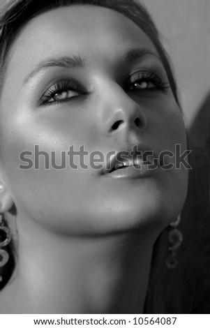 very  beautiful woman - stock photo