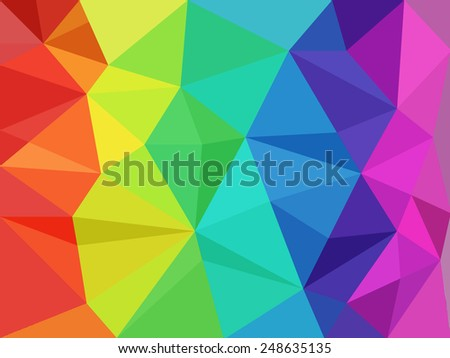 very big size abstract rainbow background low poly - stock photo