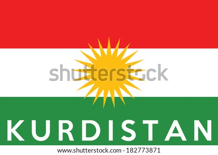 very big size kurdistan people republic flag