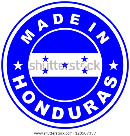 very big size made in honduras country label