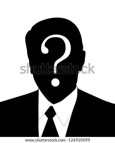 very big size man without a face illustration - stock photo