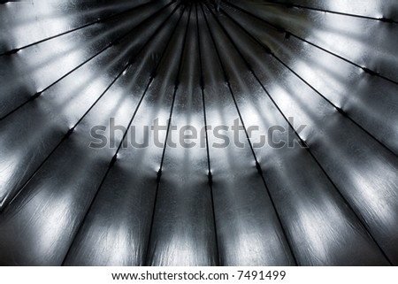 Very big studio umbrella - stock photo