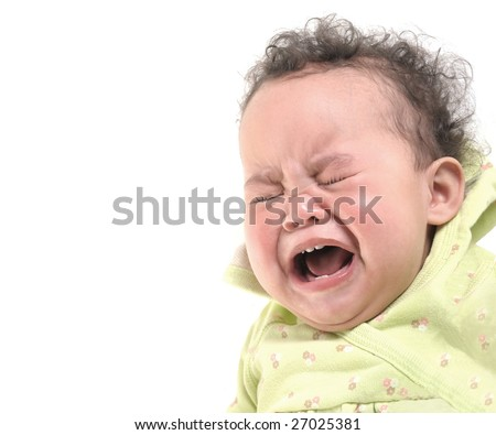 Very Cute Image of a baby Girl Crying