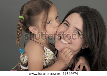 very cute Image Of a Mother and daughter
