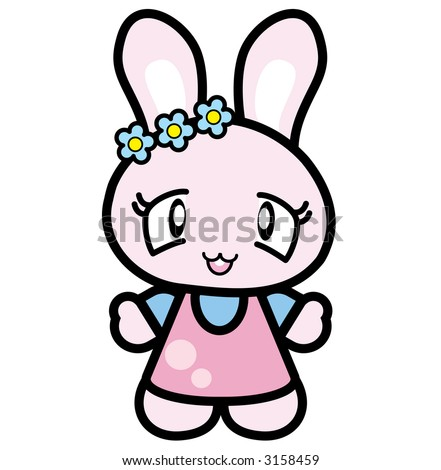 Very Cute Japan Rabbit - stock photo