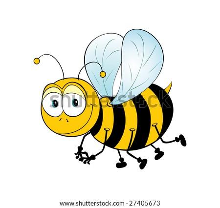 Very cute, shy and smiling bee