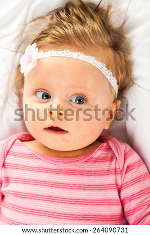 Very cute toddler girl - stock photo