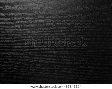 Very dark texture of black shine wood - stock photo