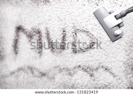 Very dirty white carpet - stock photo