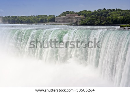 Very famous waterfall in Niagara Canada. - stock photo