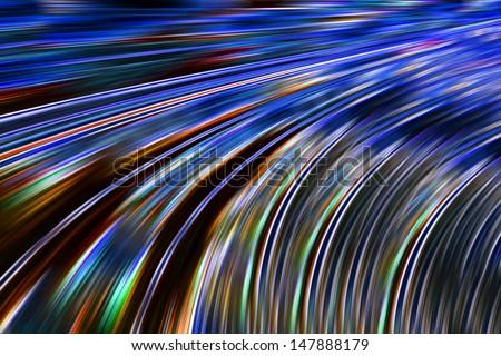 very fast data transmission - stock photo