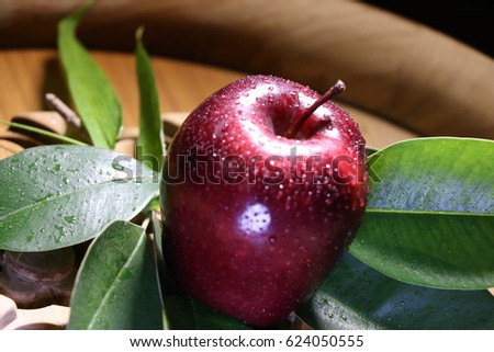 very fresh red apple