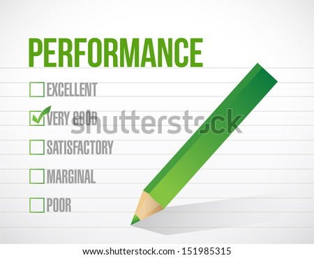 very good performance review illustration design graphic over white background - stock photo