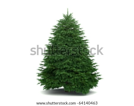 very high detailed christmas tree