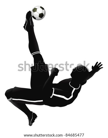 Very high quality detailed soccer football player illustration. - stock photo